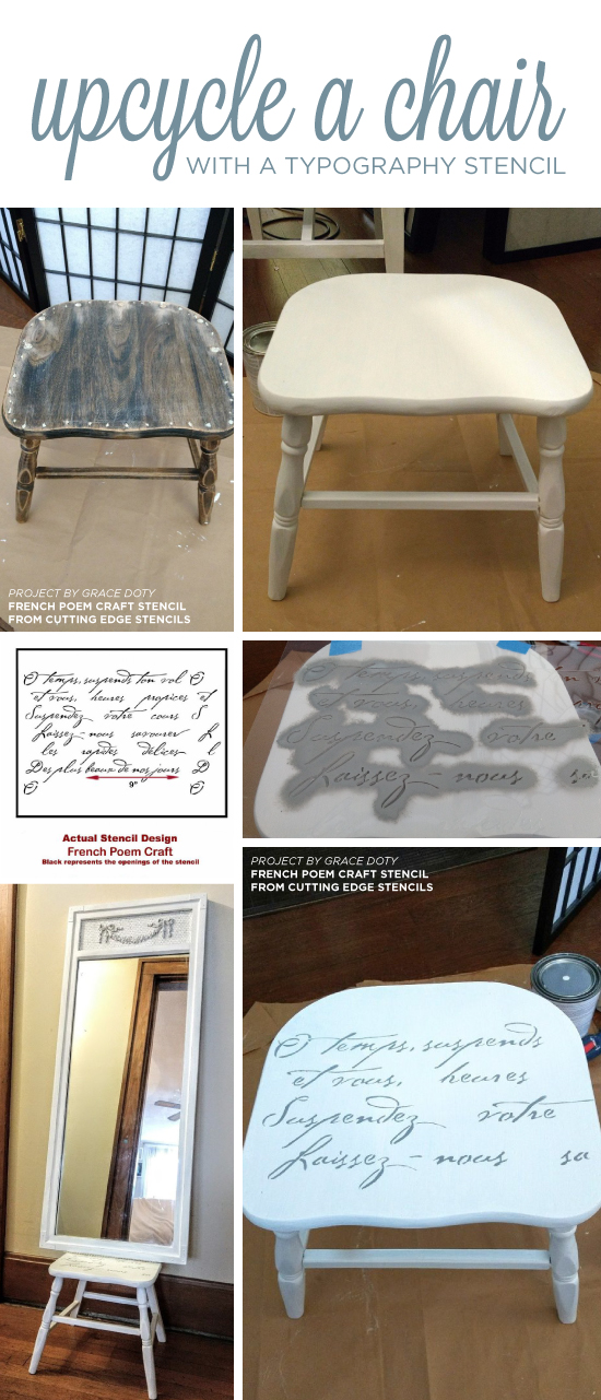 cutting edge furniture. cutting edge stencils shares how to stencil a chair using the french poem craft furniture n