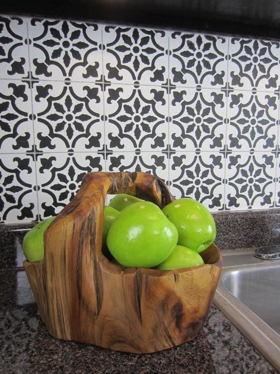 Stencil Tile Backsplash Part - 50: Cutting Edge Stencils Shares A DIY Stenciled Faux Tile Backsplash Using The  Fabiola Tile Pattern.
