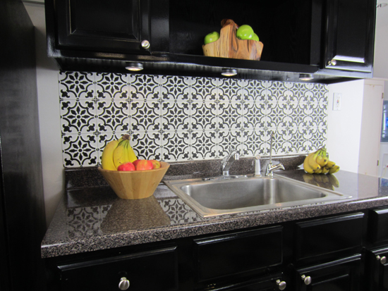 how to stencil a faux tile backsplash stencil stories