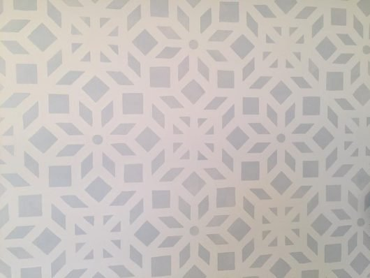 A Gray And White Stenciled Bedroom Accent Wall Using The Kerala Allover  Stencil, An Indian Part 95