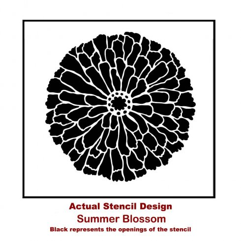 The Summer Blossom Flower Stencil from Cutting Edge Stencils. http://www.cuttingedgestencils.com/flower-stencils-summer-blossom-floral-wall-stencil-design.html