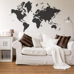 The World Map Allover Stencil from Cutting Edge Stencils. http://www.cuttingedgestencils.com/world-map-stencil-wall-decal-worlds-maps-stencils.html