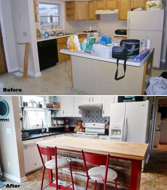 Paint A Pinterest-Worthy Faux Tile Kitchen Backsplash - Stencil ...