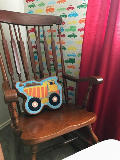 A DIY stenciled accent wall in a boys bedroom using the Cars Allover Stencil from Cutting Edge Stencils. http://www.cuttingedgestencils.com/cars-allover-stencil-nursery-wall-decor.html