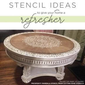 Cutting Edge Stencils shares easy and affordable DIY decorating ideas using stencil patterns. http://www.cuttingedgestencils.com/wall-stencils-stencil-designs.html