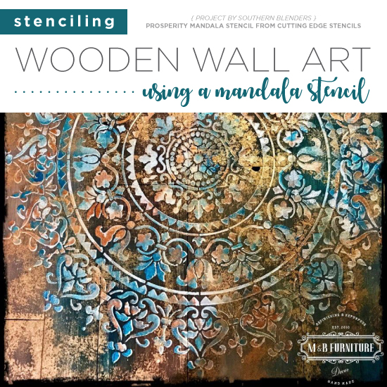 Stenciling Wooden Wall Art Using A Mandala Stencil