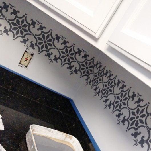 paint a pinterest-worthy faux tile kitchen backsplash « stencil