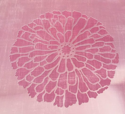 Learn how to makeover a small side table using paint and the Summer Blossom Flower Stencil from Cutting Edge Stencils. http://www.cuttingedgestencils.com/flower-stencils-summer-blossom-floral-wall-stencil-design.html