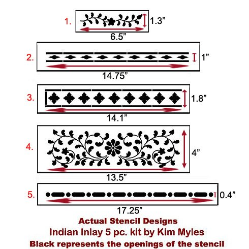 The Indian Inlay Stencil Kit designed by Kim Myles from Cutting Edge Stencils. http://www.cuttingedgestencils.com/indian-inlay-stencil-furniture.html