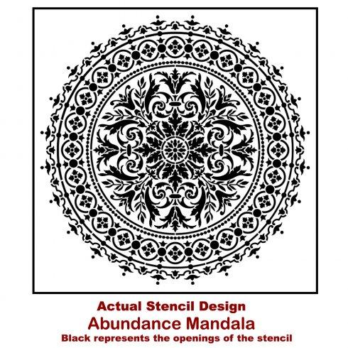The Abundance Mandala Stencil from Cutting Edge Stencils. http://www.cuttingedgestencils.com/abundance-mandala-stencil-yoga-wall-stencils-mandalas.html