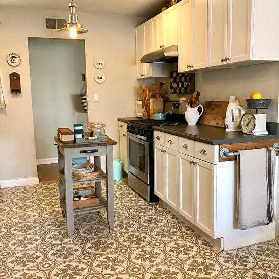 Sungai Buloh Luxury Kitchen: Replacing Linoleum Kitchen Floor Tile
