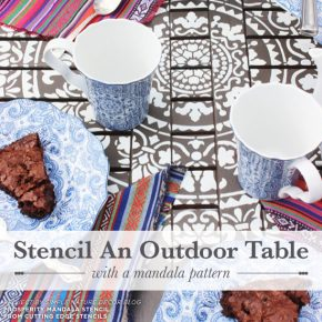 Stencil An Outdoor Table With A Mandala Pattern