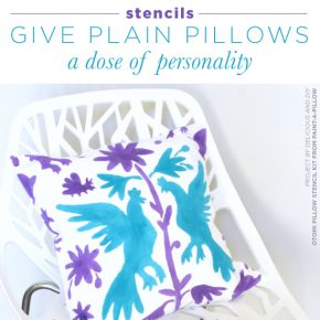 Stencils Give Plain Pillows A Dose of Personality