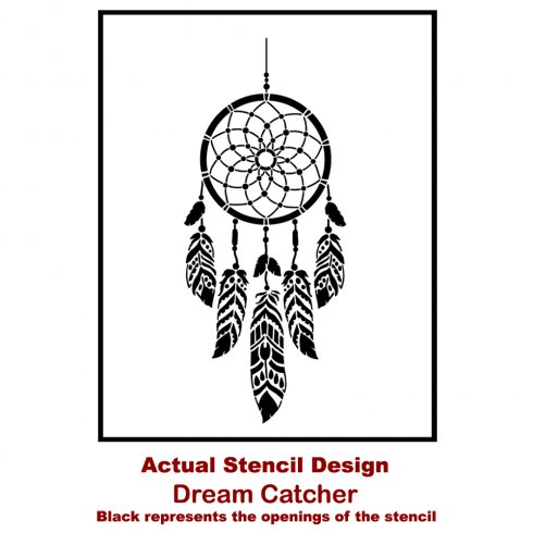 The Dream Catcher Wall Art Stencil from Cutting Edge Stencils. http://www.cuttingedgestencils.com/dream-catcher-stencil-dreamcatcher-stencils-decal.html