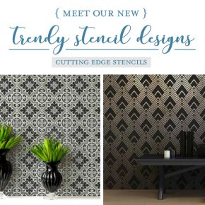 Cutting Edge Stencils shares a New wall stencil collection that includes tile patterns, art deco designs, and nauticals. http://www.cuttingedgestencils.com/wall-stencils-stencil-designs.html