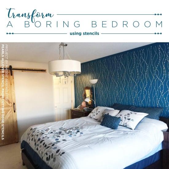 Transform A Boring Bedroom Using Stencils Stencil