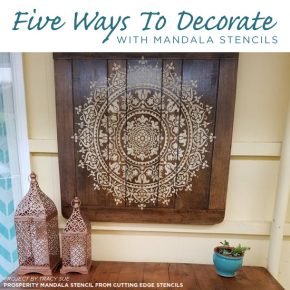 Five Ways To Decorate With Mandala Stencils