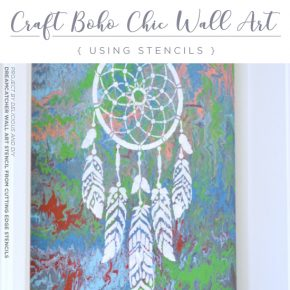 Cutting Edge Stencils shares how to craft DIY canvas wall art using the Dream Catcher stencil pattern. http://www.cuttingedgestencils.com/dream-catcher-stencil-dreamcatcher-stencils-decal.html