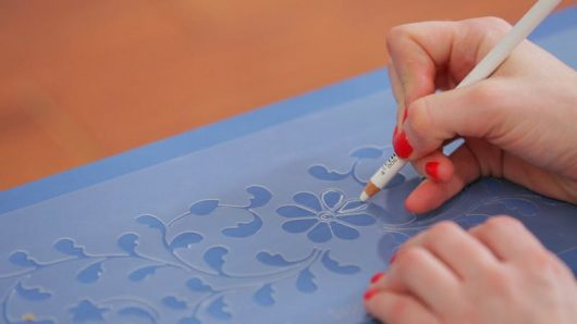 Learn how to stencil a DIY Ikea Rast dresser using the Indian Inlay Stencil Kit from Cutting Edge Stencils. http://www.cuttingedgestencils.com/indian-inlay-stencil-furniture.html