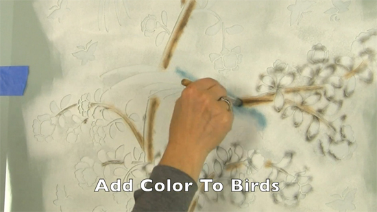 Learn how to stencil a wallpaper look using the Chinoiserie Birds and Roses Mural Wall Stencil from Cutting Edge Stencils. http://www.cuttingedgestencils.com/chinoiserie-wall-stencil-mural-panel-asian-design.html