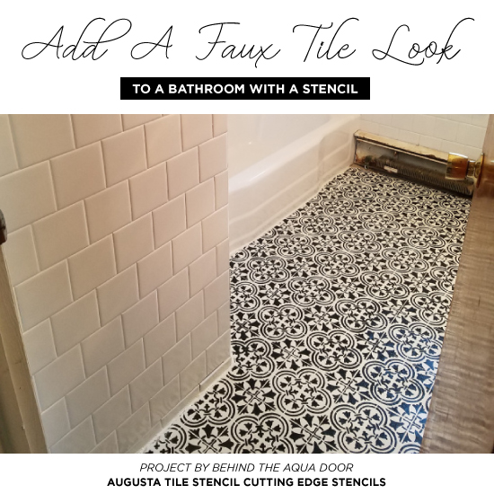 Add A Faux Tile Look To A Bathroom With A Stencil