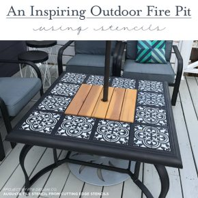 An Inspiring Outdoor Fire Pit Using Stencils