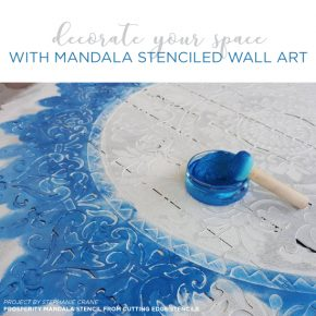 Decorate Your Space With Mandala Stenciled Wall Art