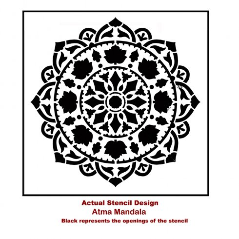 The Atma Mandala Stencil from Cutting Edge Stencils. http://www.cuttingedgestencils.com/stencil-mandala-atma-medallion-deisgn-stencils.html