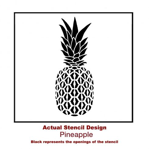 The Pineapple Stencil from Cutting Edge Stencils. http://www.cuttingedgestencils.com/pineapple-stencil-design-wall-stencils.html