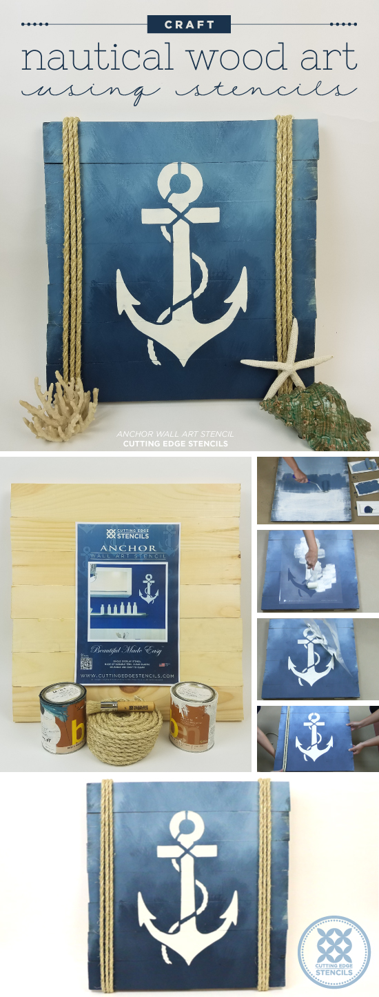 cutting edge crafts craft nautical wood using stencils 1831