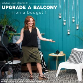 Sharon Grech from Cityline shares how to use the Medina Moroccan Tile Stencil from Cutting Edge Stencils in a budget friendly concrete balcony makeover. http://www.cuttingedgestencils.com/medina-moroccan-design-tile-stencil-wall-stencils.html