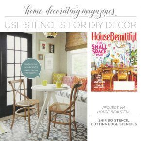 Cutting Edge Stencils shares DIY decorating projects from trendy home decor magazines using stencil patterns. http://www.cuttingedgestencils.com/wall-stencils-stencil-designs.html
