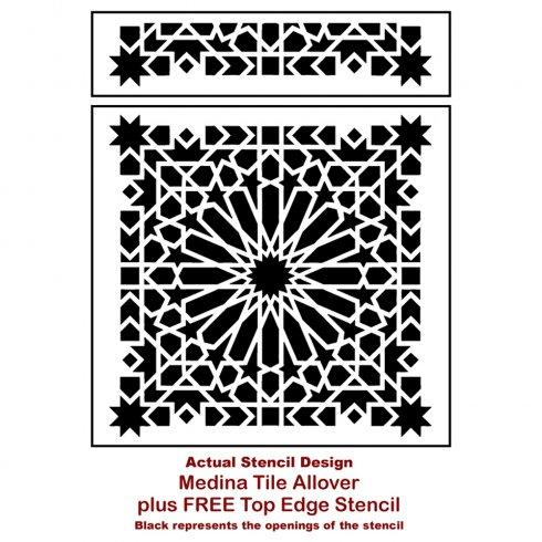 The Medina Tile Moroccan Wall Stencil from Cutting Edge Stencils. http://www.cuttingedgestencils.com/medina-moroccan-design-tile-stencil-wall-stencils.html