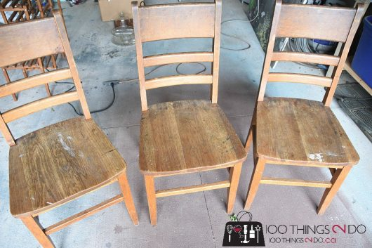 Wooden Chairs Before They Get A Stenciled Makeover.  Http://www.cuttingedgestencils