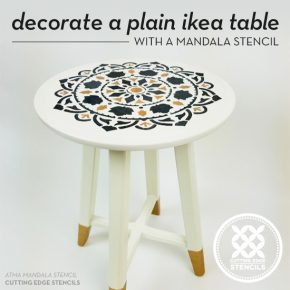 Decorate A Plain Ikea Table With A Mandala Stencil