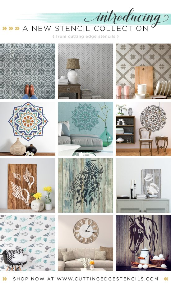 Cutting Edge Stencils is excited to announce our new stencil patterns including nautical, tile, and mandala designs. http://www.cuttingedgestencils.com/wall-stencils-stencil-designs.html