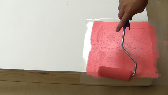 Learn how to stencil a DIY cornhole board using a tile stencil from Cutting Edge Stencils. http://www.cuttingedgestencils.com/tile-stencils-cement-tile-stencil-designs-floor-tiles.html
