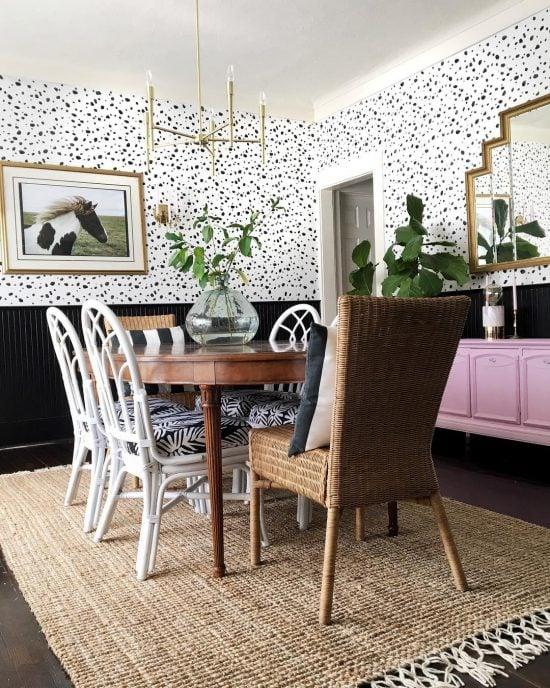 leopard-spot-wall-stencil-diy-stenciled-dining-room-wallpaper-