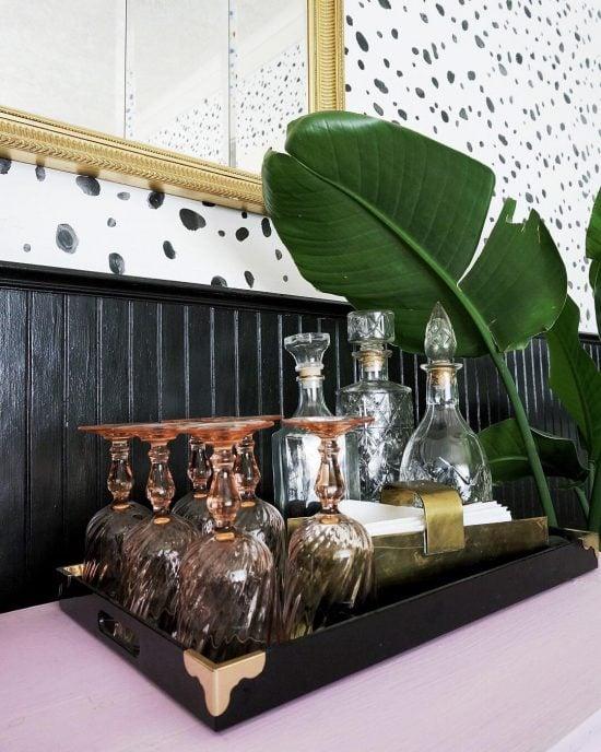 leopard-spot-wall-stencil-diy-stenciled-dining-room-wallpaper-2