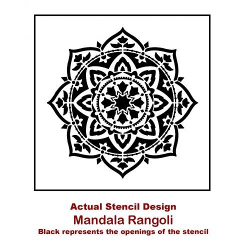 A Rangoli Mandala Stencil from Cutting Edge Stencils. http://www.cuttingedgestencils.com/rangoli-mandala-stencil-ceiling-stencils-wall-stencils.html