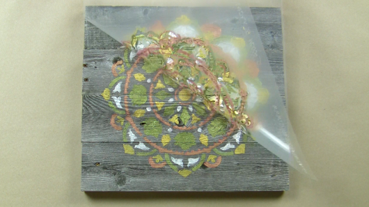 Learn how to create farmhouse reclaimed wood wall decor using the Atma Mandala Stencil from Cutting Edge Stencils. http://www.cuttingedgestencils.com/stencil-mandala-atma-medallion-deisgn-stencils.html