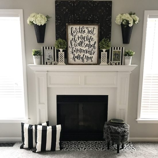 Learn How To Modernize A Farmhouse Fireplace With Paint And The Augusta Tile Stencil From Cutting