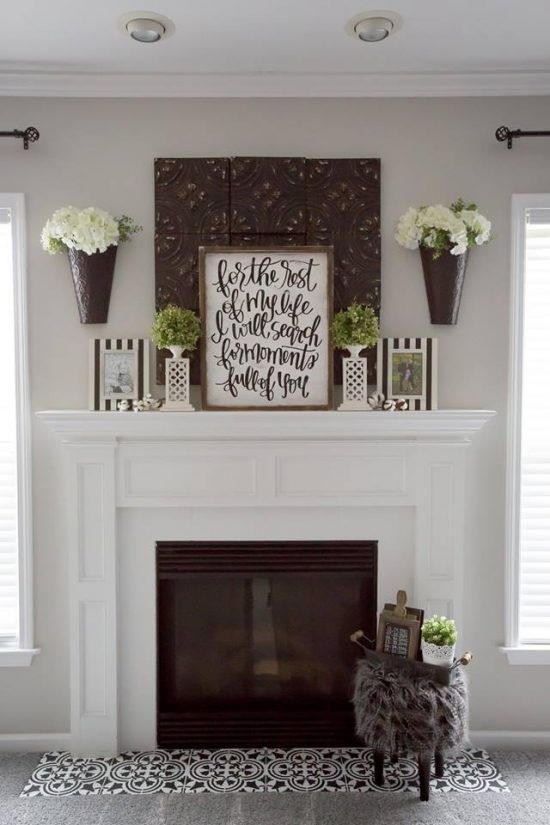 Modernize Your Farmhouse Fireplace With A Stencil