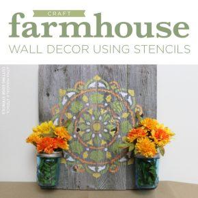 Cutting Edge Stencils shares how to make DIY farmhouse wall decor using the Atma Mandala Stencil and reclaimed wood. http://www.cuttingedgestencils.com/stencil-mandala-atma-medallion-deisgn-stencils.html