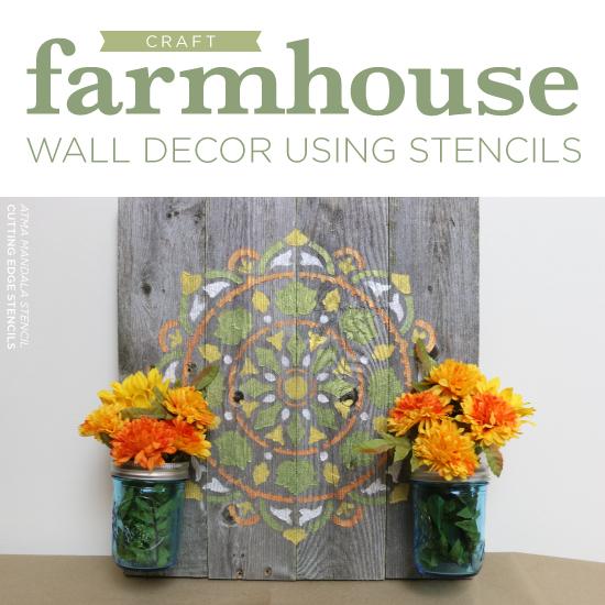 Diy Home Decor Projects Jpg: Craft Farmhouse Wall Decor Using Stencils