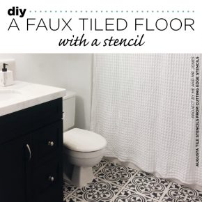 DIY A Faux Tiled Floor With A Stencil
