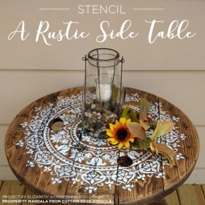Stencil A Rustic Side Table