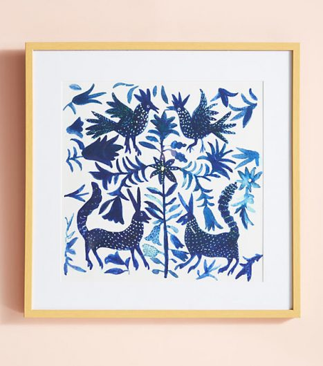 Otomi wall art sold at Anthropologie was our DIY inspiration. http://www.cuttingedgestencils.com/otomi-pattern-craft-stencil-DIY-home-decor-project.html