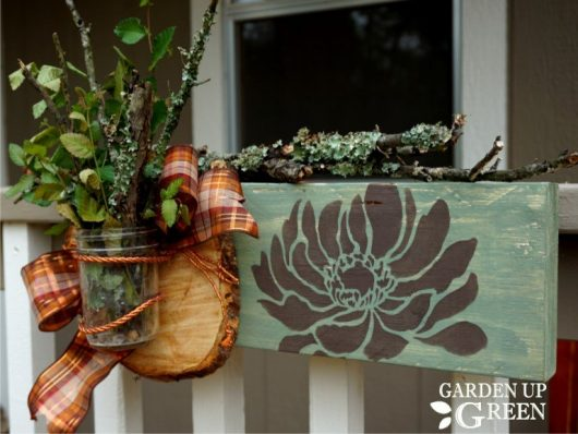 Learn how to craft fall inspired wood decor using the Anemone Grande Flower Stencil from Cutting Edge Stencils. http://www.cuttingedgestencils.com/flower-stencils-walls.html