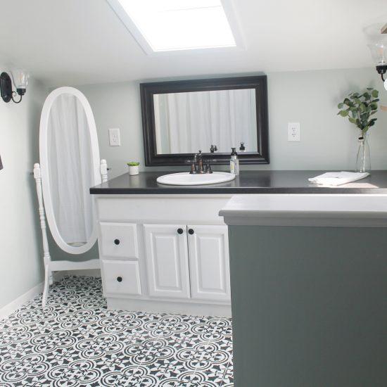 Freshen Up A Bathroom With A Stenciled Tile Floor